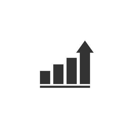 Growth icon in simple design. Vector illustartion Ilustração