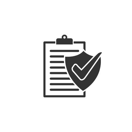 Insurance policy icon in simple design. Vector illustartion  イラスト・ベクター素材