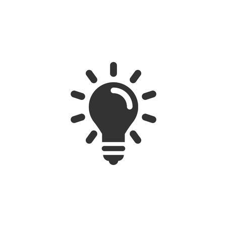 Light bulb icon in simple design. Vector illustartion
