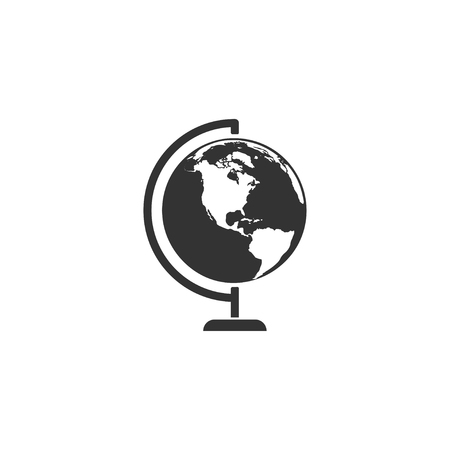 Earth globe icon in simple design. Vector illustartion