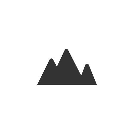 Mountain icon in simple design. Vector illustartion 矢量图像