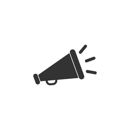 Megaphone icon in simple design. Vector illustration Çizim