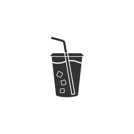 Soft drink icon in simple design. Vector illustration