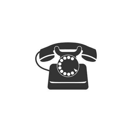 Retro phone icon in simple design. Vector illustration