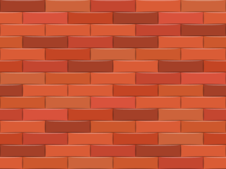 Brown brick wall background. Seamless pattern. Vector illustration