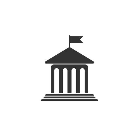 Icona della casa municipale in un design semplice. Illustrazione vettoriale