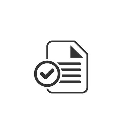 Icône de papier de test dans un design simple. Illustration vectorielle