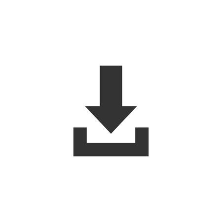 Download icon in simple design. Vector illustration Ilustração