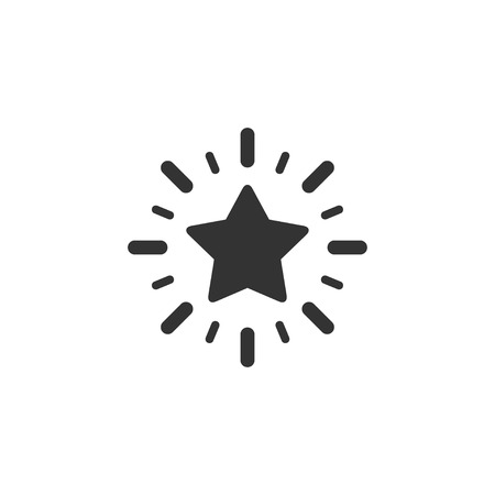 Excellence star icon in simple design. Vector illustration