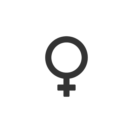 Gender female icon in simple design. Vector illustration