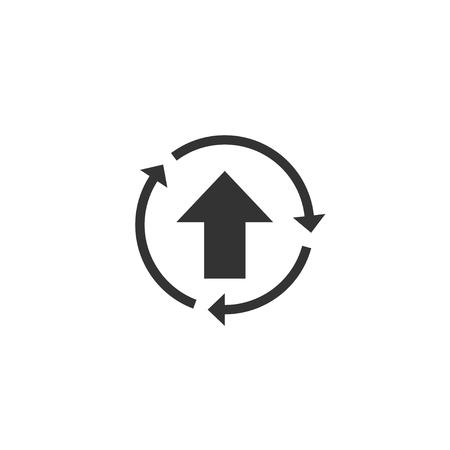 Improve icon in simple design. Vector illustration