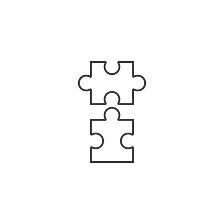 Puzzle icon in simple design. Vector illustration