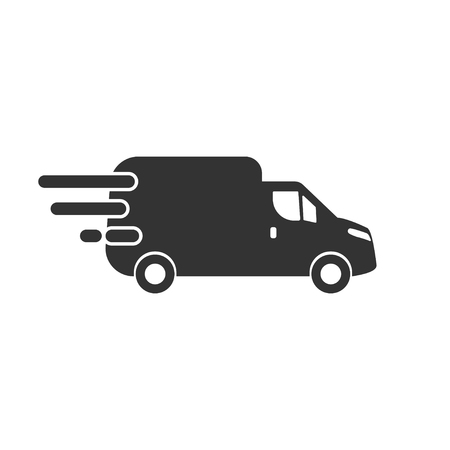 Delivery icon in simple design. Vector illustration