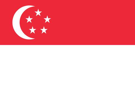 Flag of the Singapore. Vector illustration EPS10 Çizim