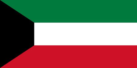 Flag of the Kuwait. Vector illustration EPS10