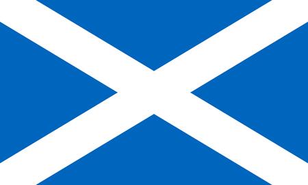 Flagge von Schottland. Vektorillustration EPS10