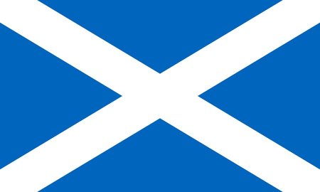 Flag of the Scotland. Vector illustration EPS10