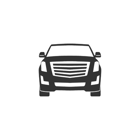 SUV car icon in simple design. Vector illustration
