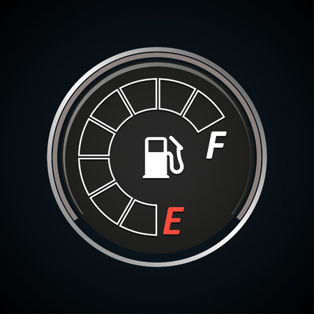 Fuel gauge icon. Gasoline indicator. Vector illustration