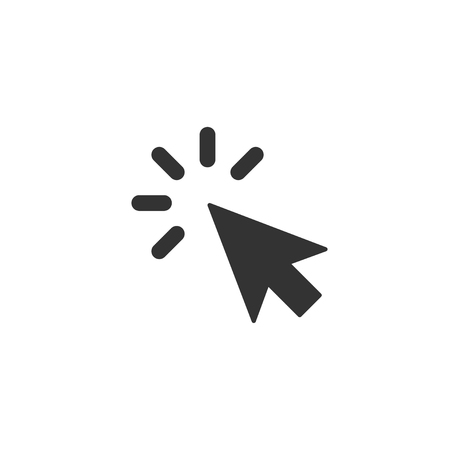 Click icon in simple design. Vector illustration Vectores