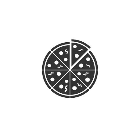 Pizza icon in simple design. Vector illustration