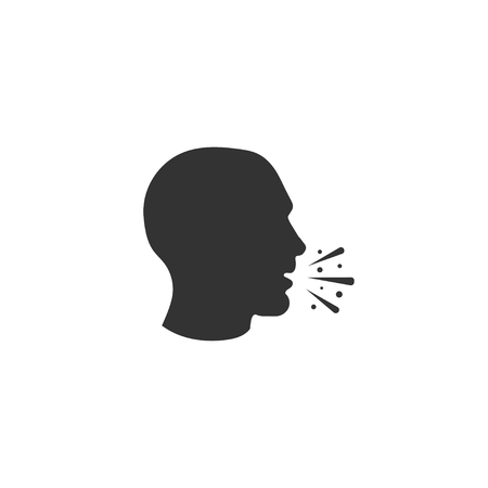 Cough icon in simple design. Vector illustration Illustration