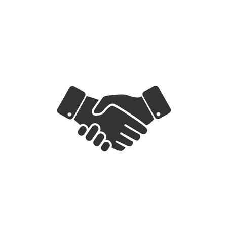 Handshake icon in simple design. Vector illustration