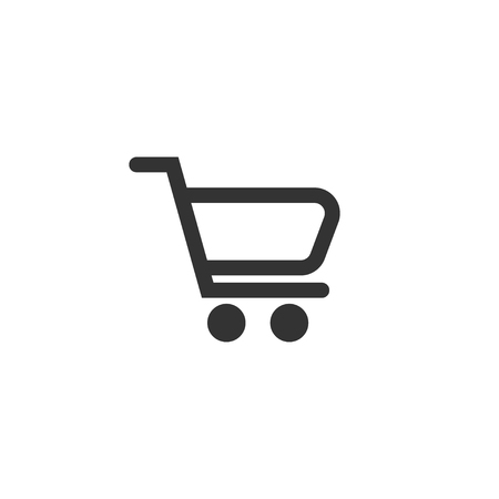 Shopping chart icon in simple design. Vector illustration Ilustração