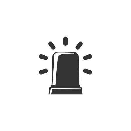 Siren icon in simple design. Vector illustration