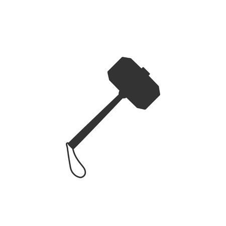War hammer icon in simple design. Vector illustration