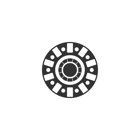 Electromagnetic icon in simple design. Vector illustration