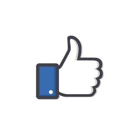 Like icon. Thumbs up icon. Vector illustration