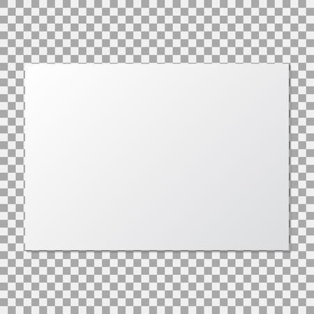 A3 paper mock up poster on a transparent background. Vector illustration