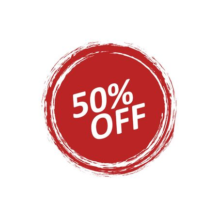 Discount badge label with the price is 50