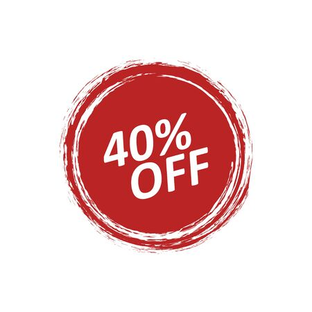 Discount badge label with the price is 40