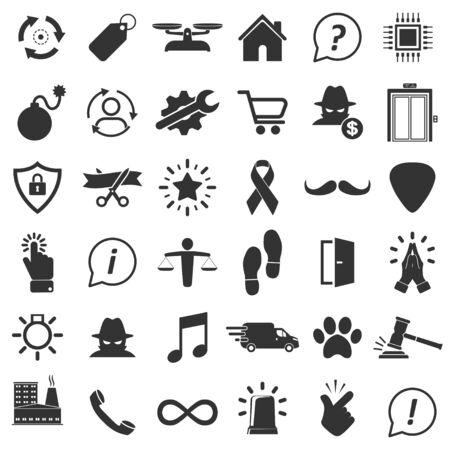 Set of miscellaneous icons in simple design. Vector illustration Ilustração