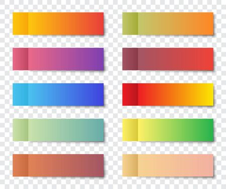 Set of post note stickers with shadow on a transparent background 스톡 콘텐츠 - 131834603