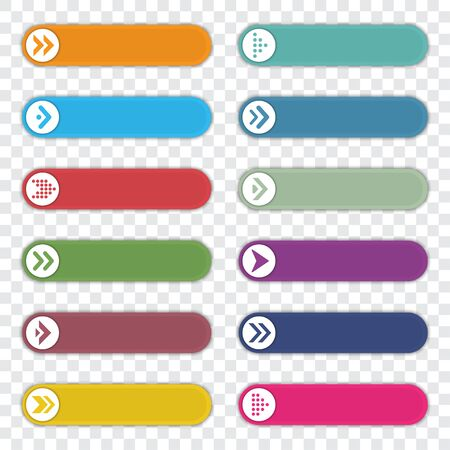 Set of number bullet point with arrows. Infographic elements template. Vector illustration 스톡 콘텐츠 - 131835827