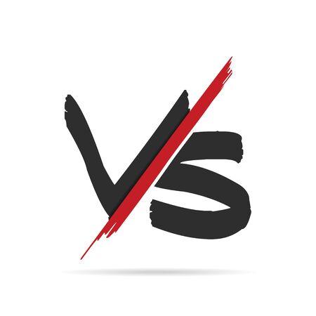 Versus symbol icon with shadow. Vector illustration