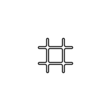 Jail line icon in simple design on a white background
