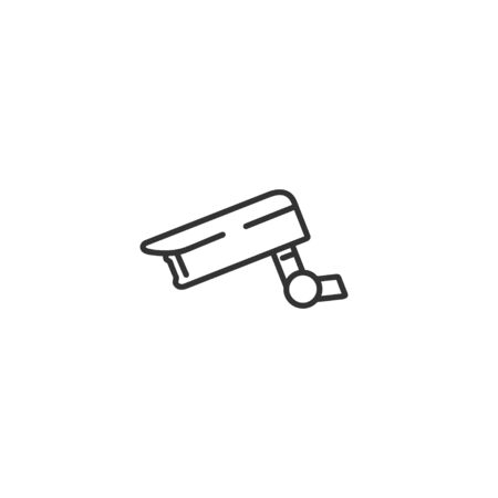 Surveillance video camera line icon in simple design on a white background Illusztráció