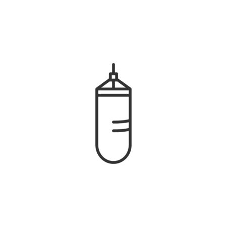 Punching bag line icon in simple design on a white background Ilustrace