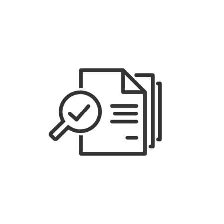 Audit line icon in simple design on a white background Illustration