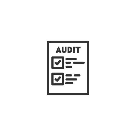 Audit document line icon in simple design on a white background