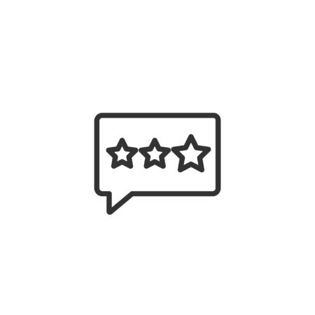 Feedback star line icon in simple design on a white background