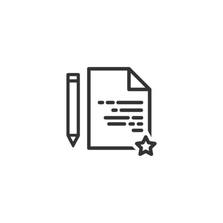 Feedback document line icon in simple design on a white background