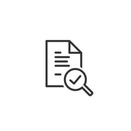 Audit line icon in simple design on a white background Фото со стока - 131836663