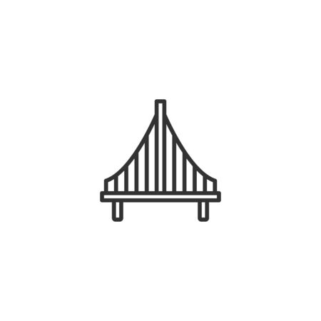 Bridge line icon in simple design on a white background Ilustracja