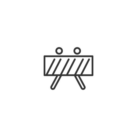 Street barrier line icon in simple design on a white background