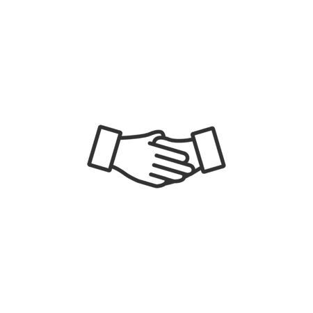 Business handshake line icon in simple design on a white background
